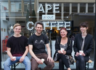 Ape About Coffee opens at PAPER Arts